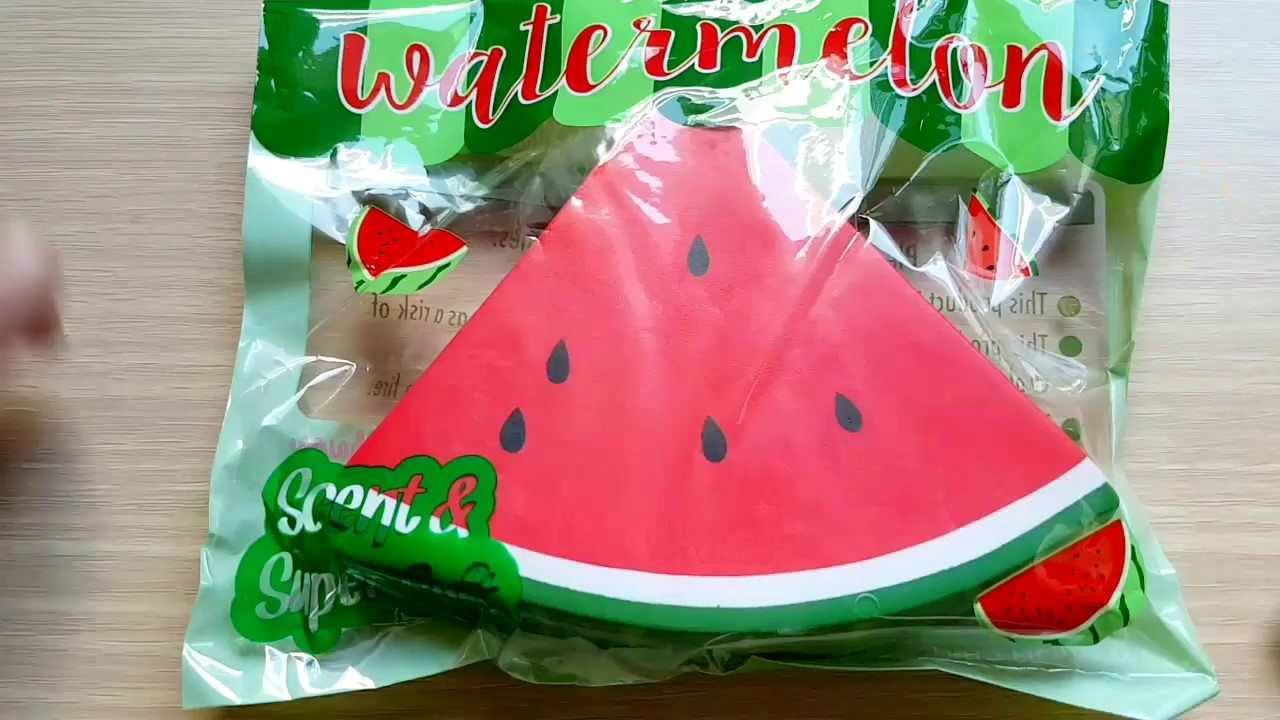 Squishy Watermelon : CHAWA WATERMELON SQUISHY - YouTube