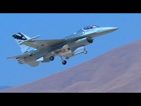 Robert Flying His HSD Turbine F-16 at Crows Landing