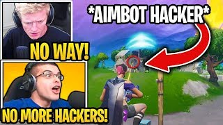 Streamer Shows HOW to DEAL WITH *AIMBOT HACKER* in Fortnite! (MUST SEE)