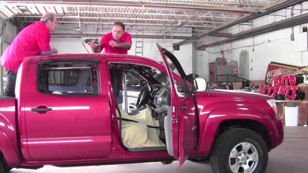 Electric Sunroof Installation Truck Option Toyota Tacoma How To Cleveland Auto Accents You