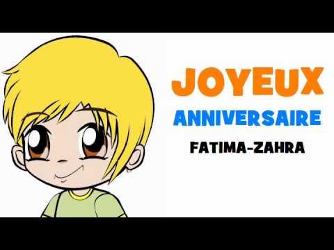 joyeux anniversaire ma soeur fatima zahra