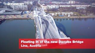 Floating In Of The New Danube Bridge In Linz, Austria