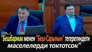"""Депутат: """"Бешбармак менен """"Беш-Сарынын"""" тегерегиндеги маселелерди токтотсок"""""""