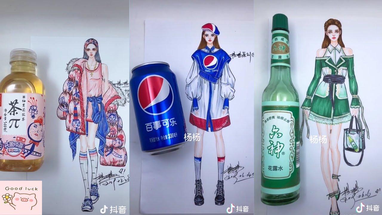 [1] Thánh Vẽ – Thiết kế thời trang từ hình đồ vật – Tiktok China