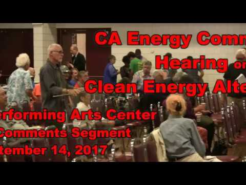 170914 CA Energy Commission Town Hall Mtg   OPAC