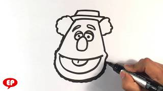 How to Draw Foozie Bear - Muppets - Easy Pictures to Draw