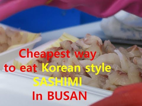 The cheapest way to eat SASHIMI in BUSAN (Korea) Pt.2