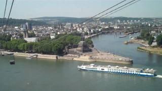 Koblenz: In der Buga-Seilbahn überm Rhein