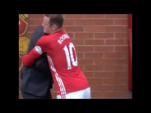 Wayne Rooney vs Pep Guardiola Fight During Manchester Derby
