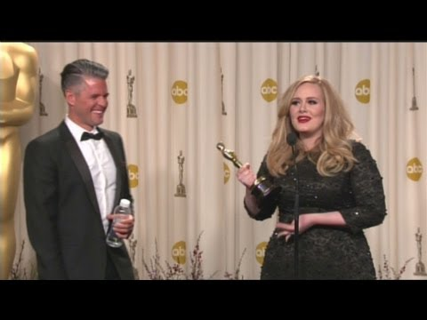 Raw Video: Adele backstage at the Oscars