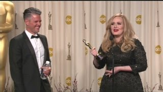 Download Raw Video: Adele backstage at the Oscars Mp3 and Videos