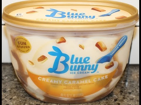 Blue Bunny Ice Cream: Creamy Caramel Cake Review