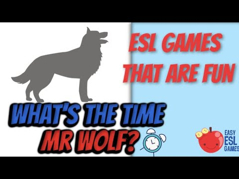 What Time Is It Mr  Wolf  -  Easy ESL Games Video # 44