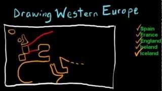 Draw Western Europe