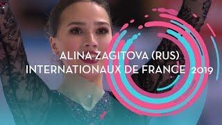 Alina Zagitova RUS Ladies Short Program Internationaux de France 2019 GPFigure