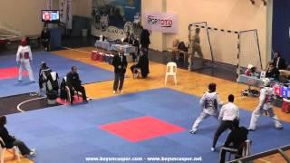 63kg Hakan Dikbas - Turan Erdem (2013 Turkish Senyor TKD Championships)