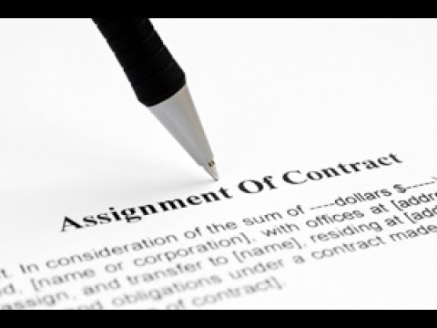 020 Contract Assignment Domination - YouTube - assignment of contract