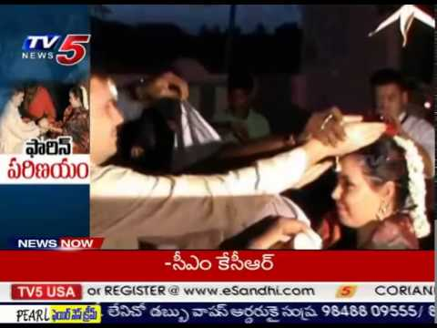 Foreign Lovers Marriage in Puttaparthi : TV5 News