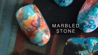 MARBLED STONE Gel NAILS | abetweene