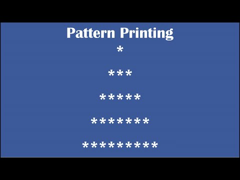 C Practical and Assignment Programs-Pattern Printing 8
