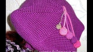 Берет Классический крючком - Crochet takes - 1 часть - добавление петель