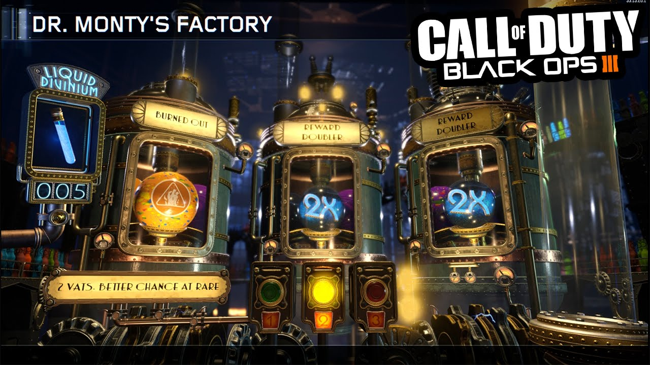 Black Ops 3 ZOMBIES - DR MONTYS FACTORY! RARE GOBBLEGUM OPENING! (Call of  Duty BO3)