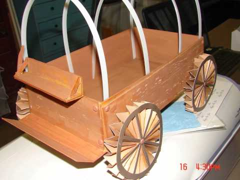 3D Covered Wagon start to finish