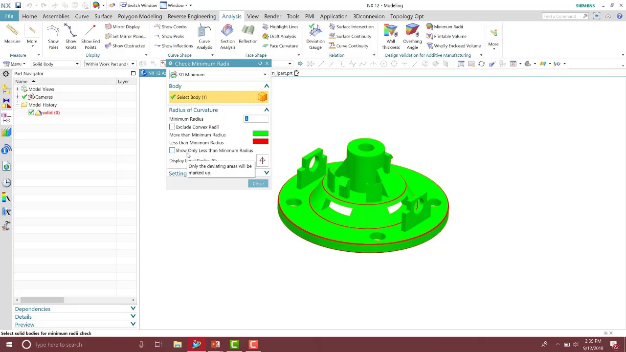 Design for Additive Manufacturing in NX: Additive Validation Tools