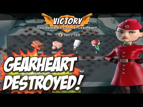 Colonel GearHeart Defeated! How To Beat War Factory | Boom Beach New Event Gameplay