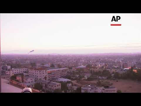 Explosions In Gaza After Violence Flares With Israel