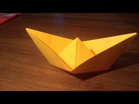 How To Make an EASY Paper Boat THAT FLOATS - Origami