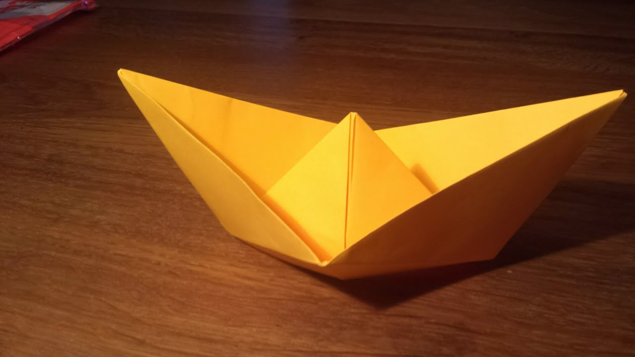 How To Make an EASY Paper Boat THAT FLOATS - Origami - YouTube - photo#15