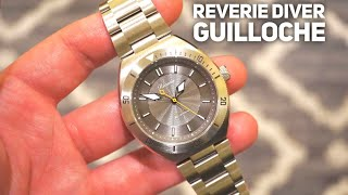 Reverie Diver 200M Watch Review   Guilloche Dial