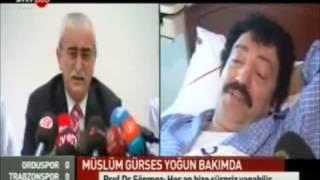 Müslüm Gürses yoğun bakımda. Prof. Dr. Bingür Sönmez'in açıklamaları