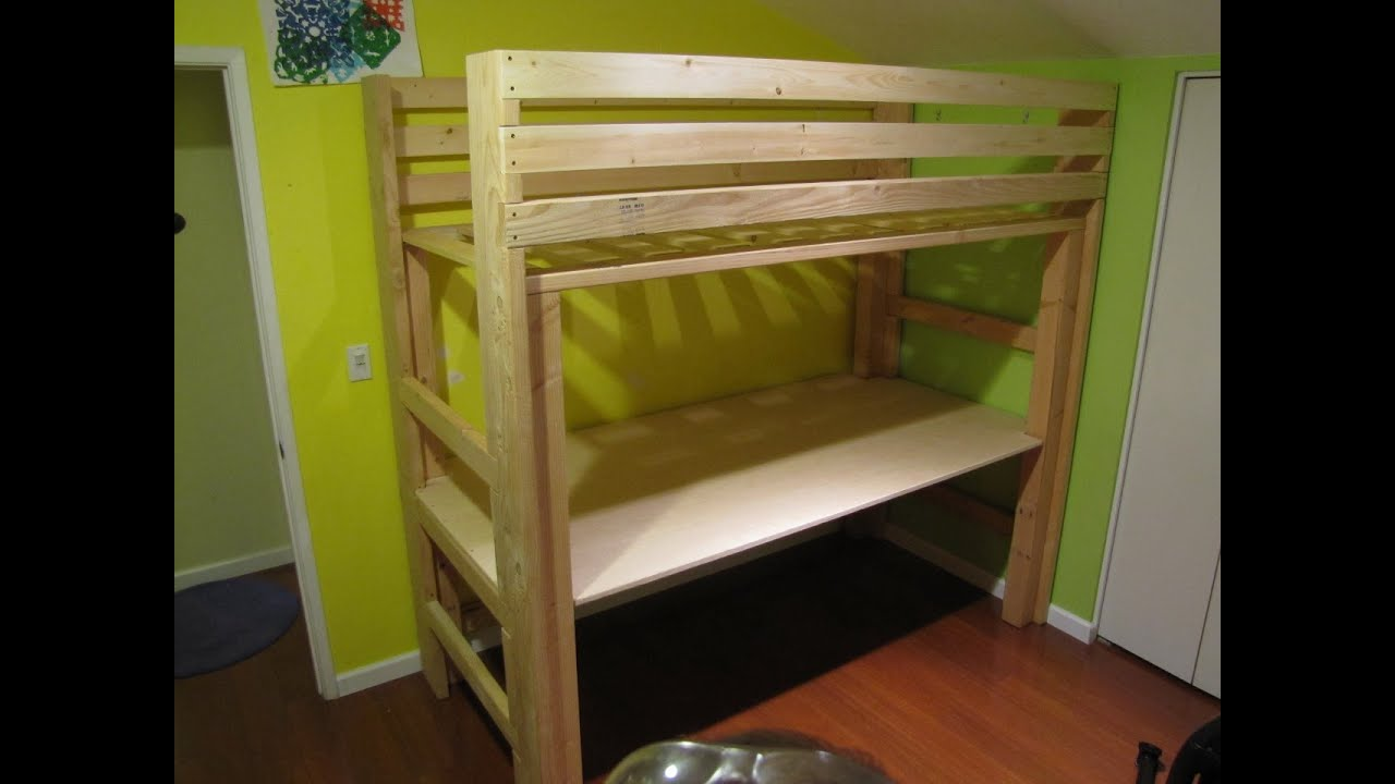 Diy Bunk Bed With Desk