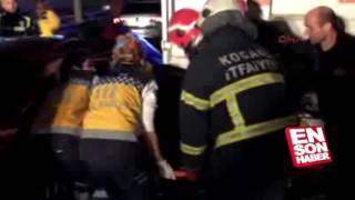 Kocaeli'nde otomobil TIR'ın altına girdi  4 yaralı