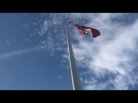 Texas A&M University - Campus Exterior - Administration Building Flagpole