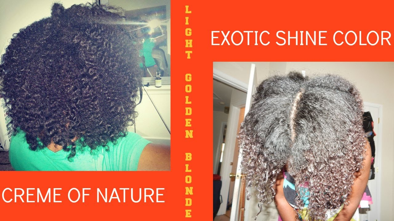 Going Blonde Phase 1 Cream Of Nature Exotic Shine Hair Color Light