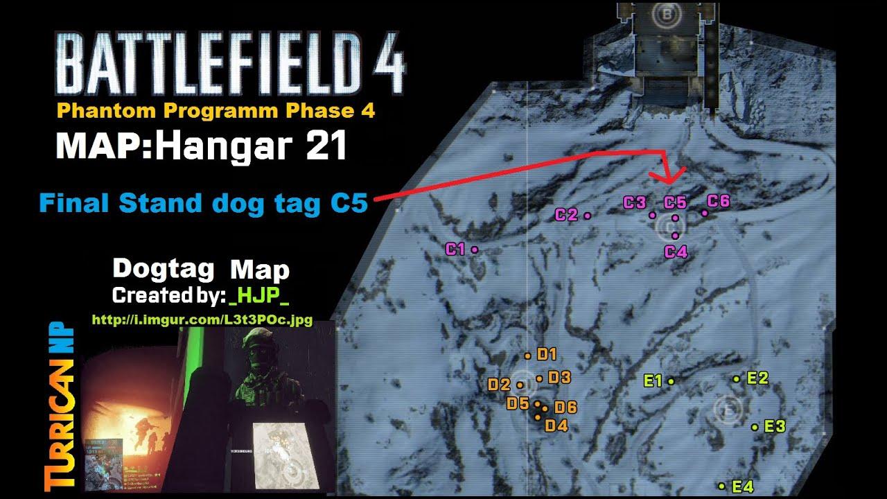 "BF4 - Final Stand Dogtag ""C5"" gefunden | Map Hangar 21 ..."