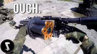 Possibly the Most Painful Airsoft Gun in Existence (40mm Grenade Launcher) thumbnail