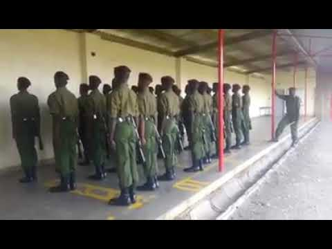 KENYA POLICE OFFICERS TRAINING IN GOOD STYLE