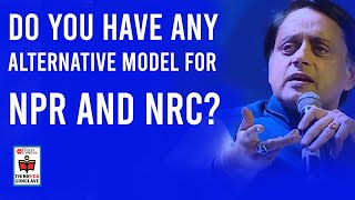 Do you have any alternative model for NPR and NRC? Listen to Shashi Tharoor answer Prabhu Chawla