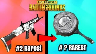 TOP 10 RAREST SKINS IN PUBG! - PlayerUnknownsBattlegrounds Rare Items