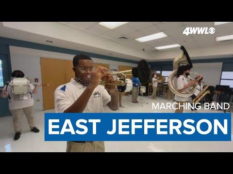 Mardi Gras 2021: East Jefferson High School band