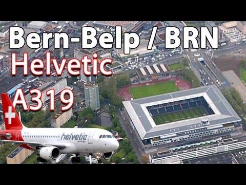 Helvetic A319 - Takeoff in Berne HD