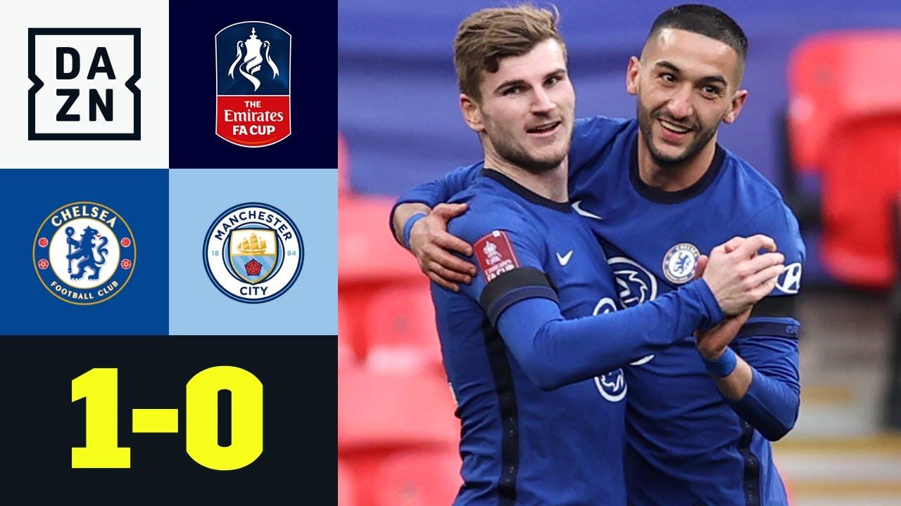 Zu schnell für City! Werner und Ziyech tanzen ins Finale: Chelsea - Man City 1:0   FA Cup   DAZN