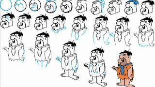 How To Draw Fred Flintstone Step By Step Drawing Tutorial