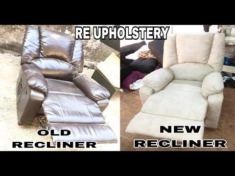 #recliner #sofa #godrej How to make recliner sofa godrej product (re upholstery)