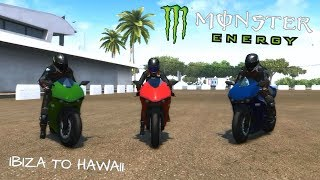 vuclip Test Drive Unlimited 2 - Monster Energy Superbike Run (Ibiza to Hawaii)