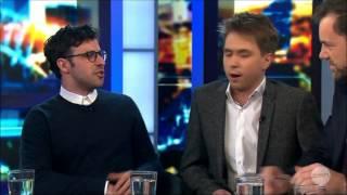 Joe Thomas & Simon Bird First LIVE Australian Tv Interview 15-8-2014